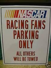 Tin Sign- Nascar- Racing Fans Parking Only