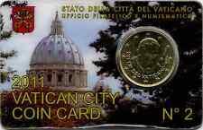 CITTà DEL VATICANO _ VATICAN CITY _ COIN CARD N° 2 _ 50 CENTESIMI EURO  2011