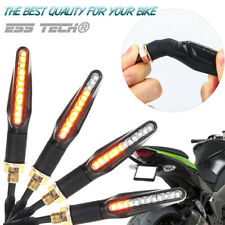 Clignotant moto LED Orange dynamique indicateur Sequenciel universelle E24 9LED