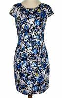 Tokito Womens Blue Short Sleeve Lined A-Line Dress Size 10