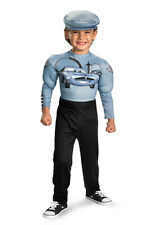 B0Y`S Costume Size ( 7-8 ) Disney Cars Finn McMissile- Muscle Arms Nwt