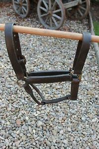 Vintage Heavy Horse Leather Head Collar with brass fittings