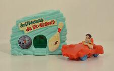 """1993 Quillorama de St-Granit & Fred 3"""" McDonald's Figure Playset Flintstones"""