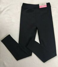 New NWT Girls Fleece Lined Leggings Size Large 10/12 By Lily & Dan Black Pants