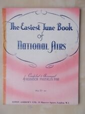 VINTAGE SHEET MUSIC BOOK - THE EASIEST JUNE BOOK OF NATIONAL AIRS