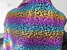2 YD GOOD WEIGHT multi color foil print fabric printed NYLON LYCRA spandex j1009