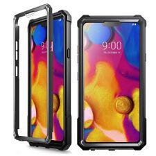 Shockproof Hybrid TPU Clear Back Hard Case Cover Case For LG V40 ThinQ Black