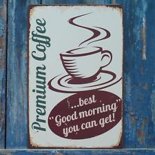 Premium Coffee sign! Retro Metal Tin Painting Cafe Art Wall Poster Home Decor