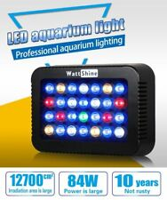 Wattshine 84W Dimmable LED Aquarium Light Colorful Dimmers For Marine Reef Coral