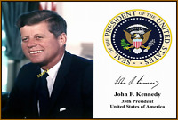 4x6 SIGNED AUTOGRAPH PHOTO REPRINT of John F. Kennedy JFK Presidential Seal #TP