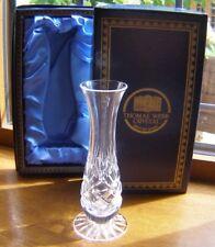 BEAUTIFUL BOXED THOMAS WEBB HAND CUT CRYSTAL GLASS STEM VASE 14CM TALL NIB