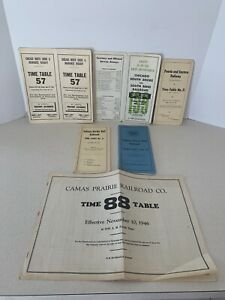 Various Government Railroad Employee Timetables Lot of 6 1946- 1975 Chicago RR