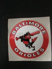 Vintage 1980's Baltimore Orioles Decal Sticker MLB Baseball