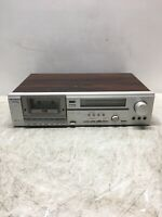 Hitachi Stereo Cassette Tape Deck D-85S Tested Used for Repair/Parts only