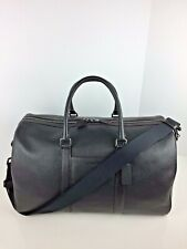 COACH F83962 Trekker Carry On Duffle Travel Bag Men's Leather Black NWT
