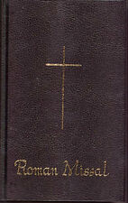 BLACK ROMAN CATHOLIC MISSAL SUNDAY MASS - STATUES CANDLES PICTURES ALSO LISTED