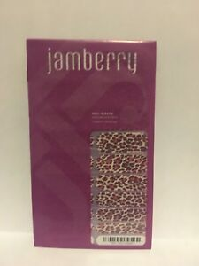 New JAMBERRY Nail Wraps FLIRTY LEOPARD Print with Pink Retired FULL SHEET
