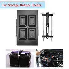 SUV Car Storage Battery Holder Adjustable Stabilizer Tray Down Clamp Bracket Kit