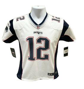 New England Patriots Tom Brady #12 Nike NFL Youth White Jersey Size Medium NWT