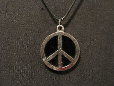 METAL VINTAGE PEACE SIGN NECKLACE GOTH OCCULT UK IMPORT