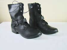 American Rag Farahh Combat Black Lace Up Boots - NEW NIB - Size 8 1/2