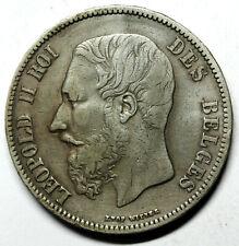 BELGIQUE  pièce en argent de 5 Francs Léopold II 1871