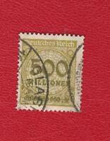 DEUTSCHES REICH (8812) MI NR 324 A P GESTEMPELT (N GEPRÜFT) INFLA Weinbach