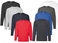 Pack of 1 3 5 Fruit of The Loom Long Sleeve T-shirt T Shirt S-3XL Lot
