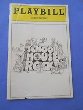 December 1995 - Lamb's Theatre Playbill - School House Rock - with tickets