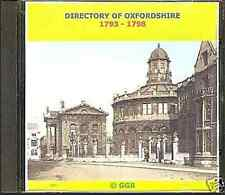 GENEALOGY DIRECTORY OF OXFORDSHIRE 1793 - 1798