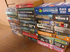 Lot of 10 Clive Cussler Paperback Books Dirk Pitt Fargo Oregon Kurt Bell *RANDOM