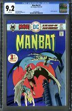 Man-Bat #1 (DC 1/76) CGC 9.2 NM-, White Pages! Jim Aparo Cover! Steve Ditko Art!