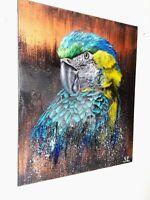 Peinture animalière surréaliste huile sur toile année 2018 format 50/61 cm