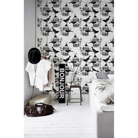 Birdcage and birds removable Wallpaper black mural Self Adhesive Peel & Stick