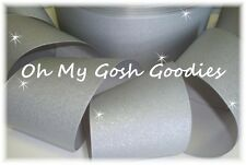 "3"" GLITTER SOLID GROSGRAIN CHEER CHEERLEADER SPIRIT TEAM RIBBON 4 HAIRBOW SILVER"