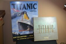 Titanic Metal Tin Sign White Star Line Ad Movie Home Wall Decor & Discovery Book