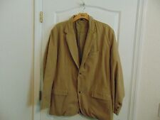 Men's Old Navy Classic Tailored Two Button Tan Cotton Sport Jacket-XXL