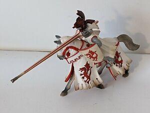 2005 Schleich Ritter Rot Weiß Turnier Ritter 70046 Tjost Stange Pferd