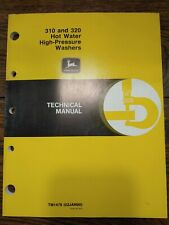 John Deere Hot Water High Pressure Washers Operators Manual 310 Amp 320 Washer