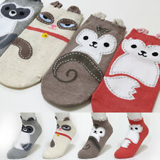 4 Pairs Animal Stitch Pattern Socks Women Girls Socks Delightful Dolls to Create