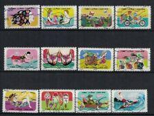 NEW 2020 les 12 timbres du Carnet - VACANCES oblitérés