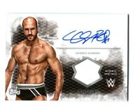 WWE Cesaro 2015 Topps Undisputed Authentic Autograph Shirt Relic Card DWC