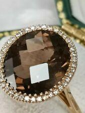 STUNNING 18 CT YELLOW GOLD TOURMALINE AND DIAMOND RING HALLMARKED 3,9 G