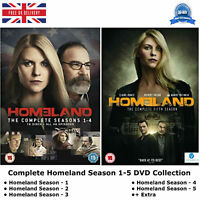Homeland Season 1-5 Complete Collection Series 1 2 3 4 5 New Sealed Region 2 DVD