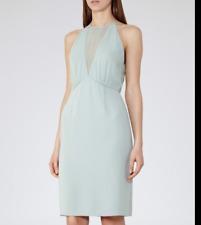 REISS Mint Green Halter Neck Kite Formal Dress SZ UK 14 / US 10