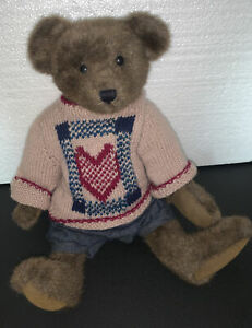 """Boyds Bear 1996 Cornwallis 9126 Teddy Investment Collectable 16"""" Used W/ Tags"""