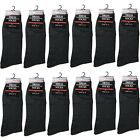 New 12 Pairs Mens All Black Dress Socks Fashion Casual Cotton Size 10-13(347-2L)