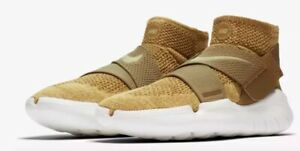 Nike Free RN Motion Flyknit Golden Beige Running Shoes Mens  Size 12.5 (942840)