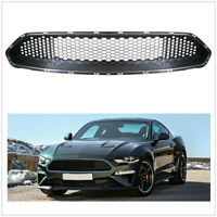 Front Upper Grille Grill For Ford Mustang 2018-2019 Bullitt Style Gloss BLK ABS