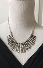 "Alfani Silver Hematite 2 tone Plated Stick Bar Elegant Chain Necklace 17.5"" + 3"""